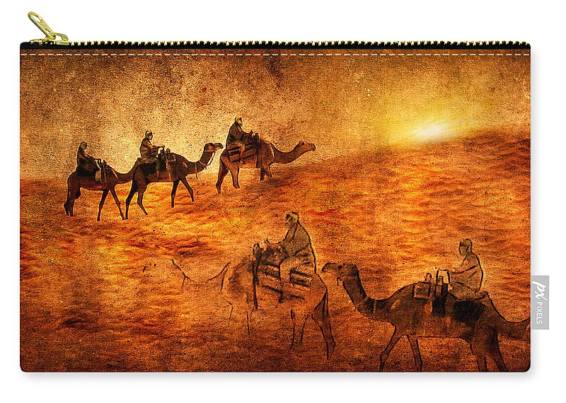 Abstract Carry-all Pouch featuring the digital art Sahara by Svetlana Sewell