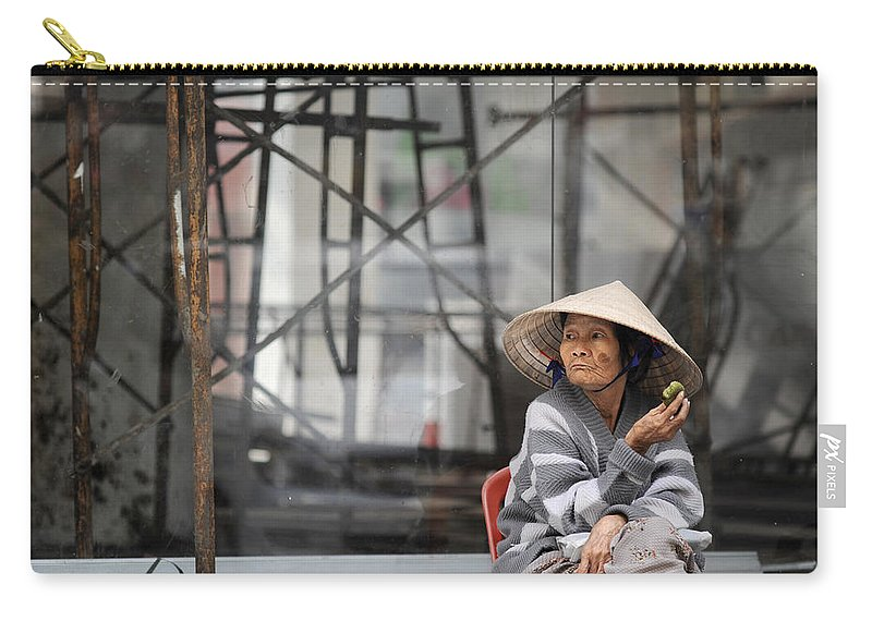 Vietnam Carry-all Pouch featuring the photograph Saigon Lady by Rafa Rivas