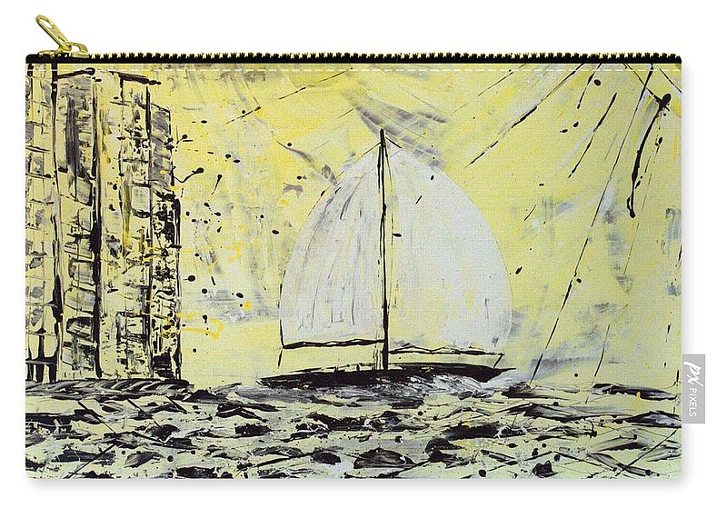 Abstract Carry-all Pouch featuring the painting Sail And Sunrays by J R Seymour
