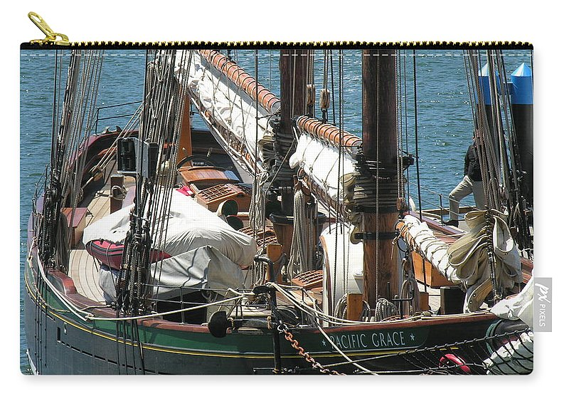 Boat Carry-all Pouch featuring the photograph Sail Boat by Diane Greco-Lesser