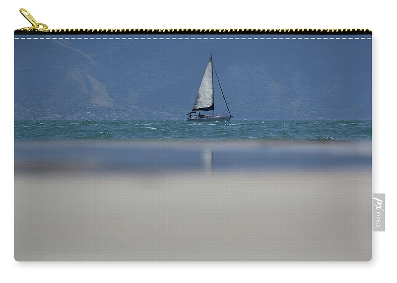 Sail Boat Carry-all Pouch featuring the photograph Sail Boat by James Conway