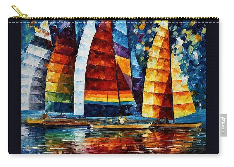 Afremov Carry-all Pouch featuring the painting Sail Regatta by Leonid Afremov