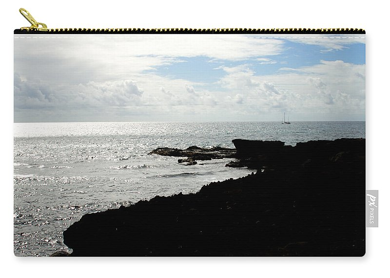 Sailboat Carry-all Pouch featuring the photograph Sailboat At Point by Jean Macaluso