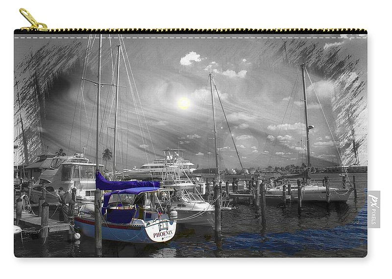 Sailboat Carry-all Pouch featuring the photograph Sailboat Series 14 by Carlos Diaz
