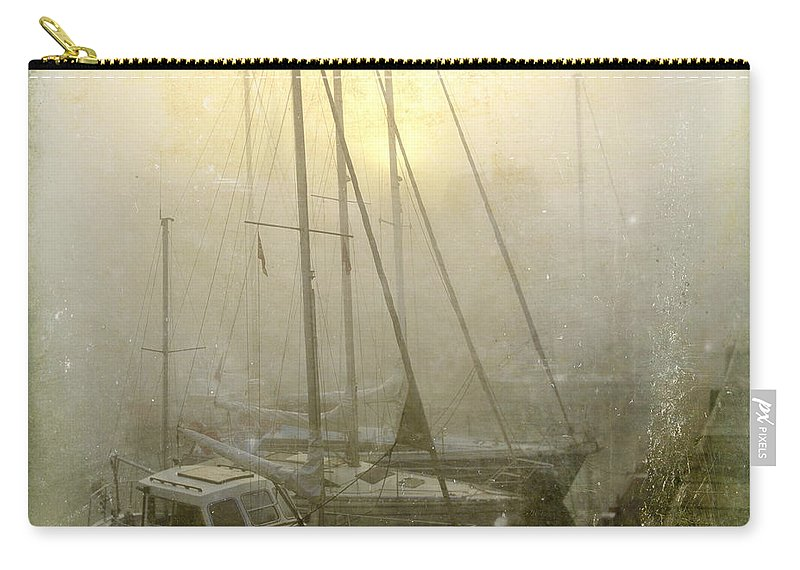 Boat Carry-all Pouch featuring the photograph Sailboats In Honfleur. Normandy. France by Bernard Jaubert