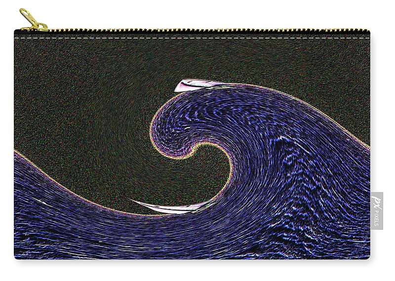 Sail Carry-all Pouch featuring the digital art Sailin The Wave by Tim Allen