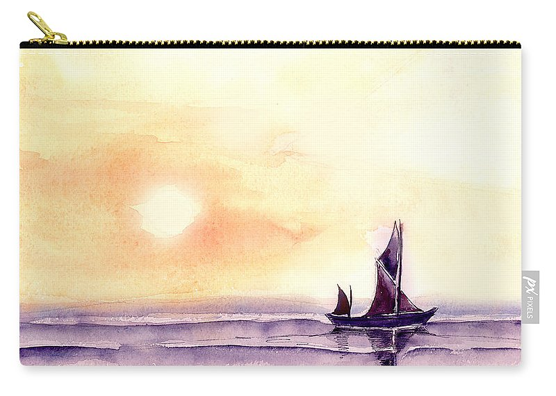 Nature Carry-all Pouch featuring the painting Sailing by Anil Nene