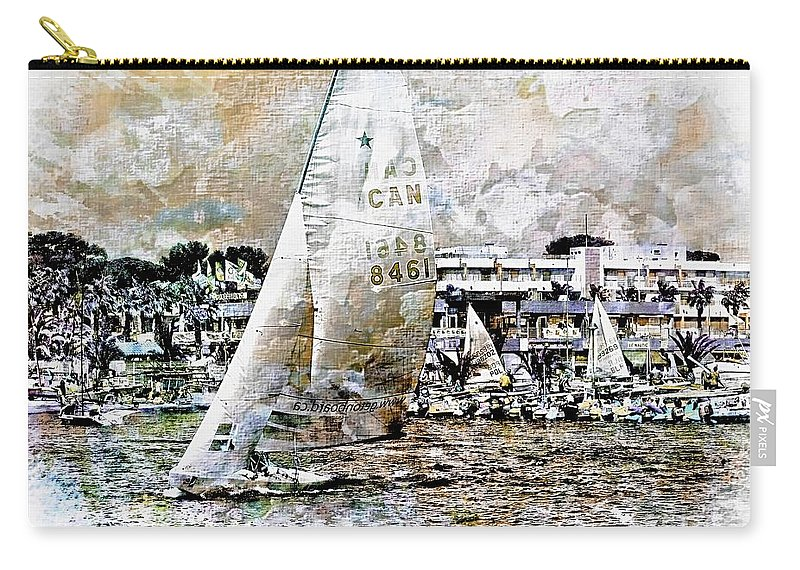 Nature Carry-all Pouch featuring the photograph Sailing Boat, Nautical,yachts, Seascape by Jean Francois Gil