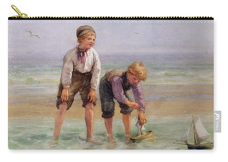 Sailing Carry-all Pouch featuring the painting Sailing Boats by Edith Hume
