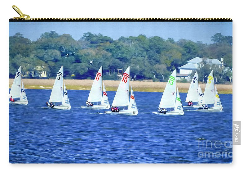 Charleston Harbor Carry-all Pouch featuring the photograph Sailing Charleston Harbor by Teresa A and Preston S Cole Photography
