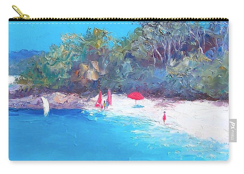 Sailing Carry-all Pouch featuring the painting Sailing Day by Jan Matson