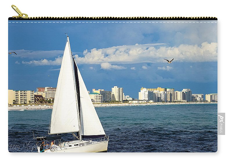 Summer Carry-all Pouch featuring the photograph Sailing Destin, Fl by Stephen Settles