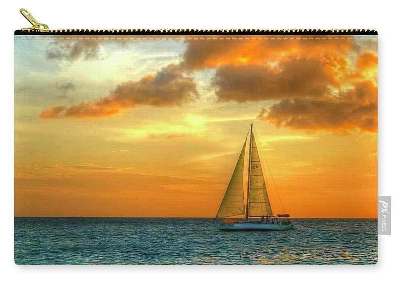 Sailboat Carry-all Pouch featuring the photograph Sailing Free by Debbi Granruth
