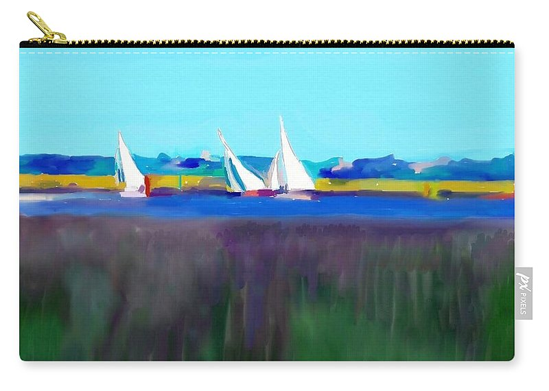 Norfolk Carry-all Pouch featuring the painting Norfolk Sails by Paul Jarvis
