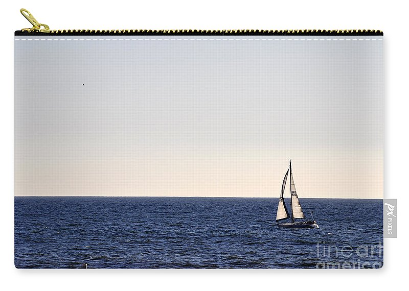 Clay Carry-all Pouch featuring the photograph Sailing In Santa Monica II by Clayton Bruster