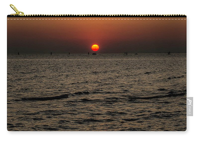 Sunset Carry-all Pouch featuring the photograph Sailing Into The Sunset by Wolfgang Stocker