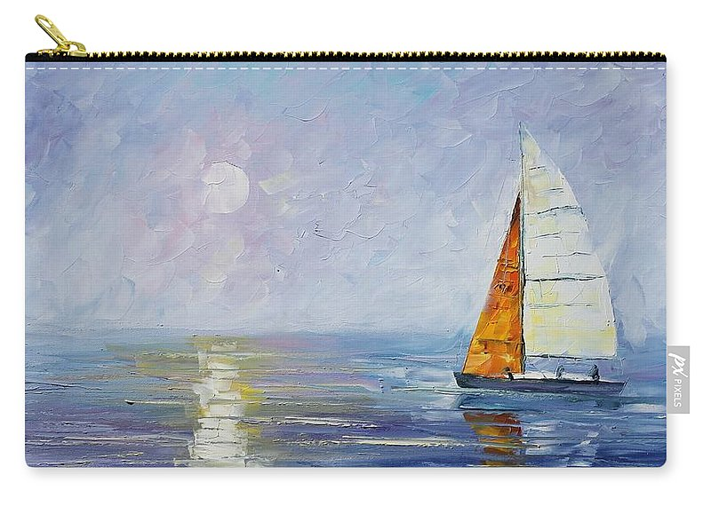 Yahct Carry-all Pouch featuring the painting Sailing by Leonid Afremov