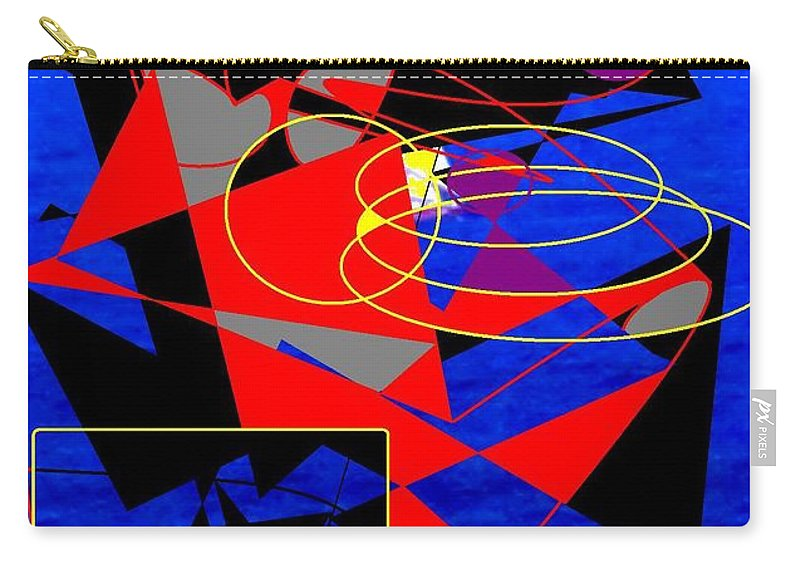 Abstract Carry-all Pouch featuring the digital art Sailing On An Open Sea by Ian MacDonald
