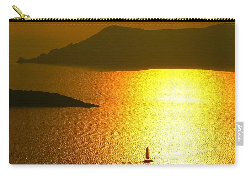 Nature Carry-all Pouch featuring the photograph Sailing On Gold 1 by Ana Maria Edulescu