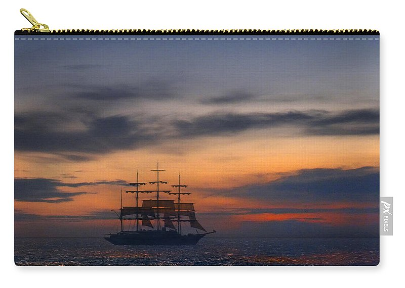 Sailing Carry-all Pouch featuring the photograph Sailing To The Moon 2 by Mike McGlothlen