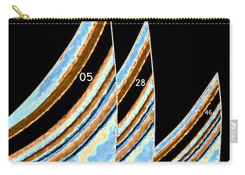 Sails Carry-all Pouch featuring the digital art Sails by Will Borden