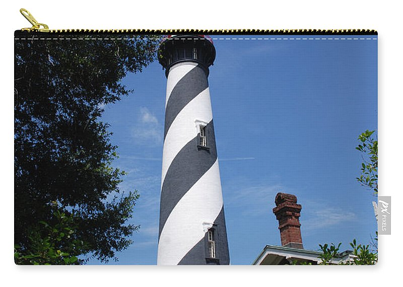 Lighthouse Carry-all Pouch featuring the photograph Saint Augustine Lighhouse by Susanne Van Hulst