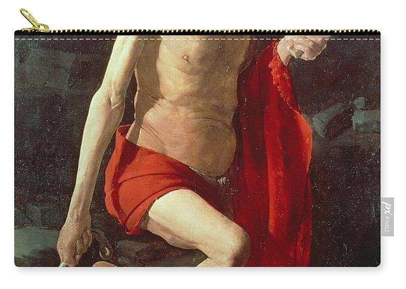 Jerome Carry-all Pouch featuring the painting Saint Jerome by Georges de la Tour