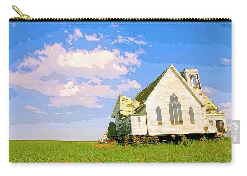 Saint John Carry-all Pouch featuring the mixed media Saint John by Dominic Piperata