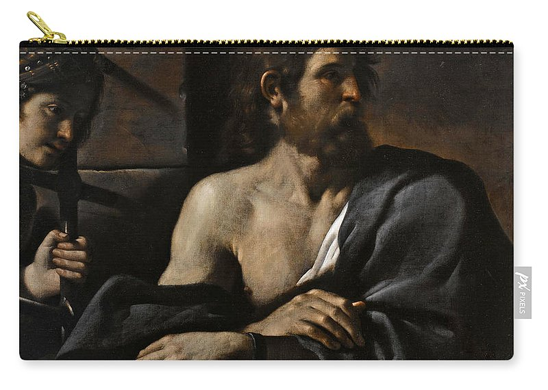Guercino Carry-all Pouch featuring the painting Saint John The Baptist In Prison Visited By Salome by Guercino
