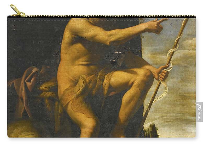 Giovanni Baglione Carry-all Pouch featuring the painting Saint John The Baptist In The Wilderness by Giovanni Baglione
