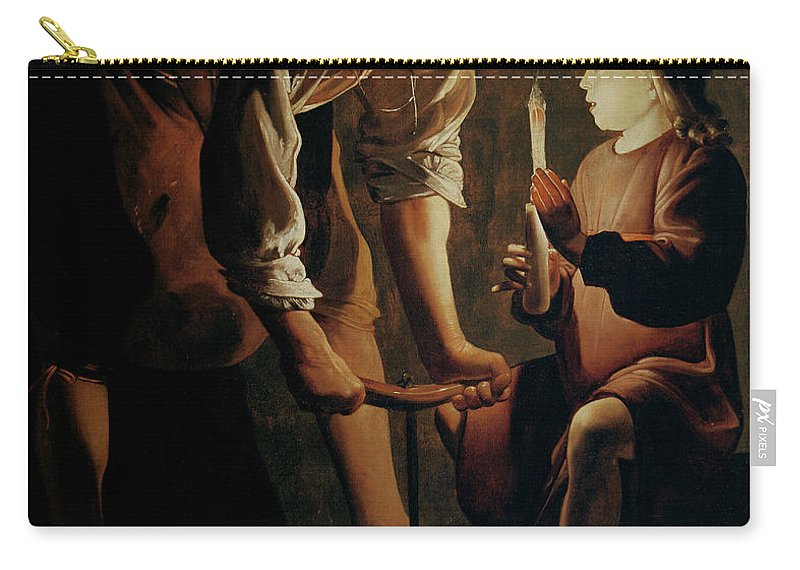 Georges De La Tour Carry-all Pouch featuring the painting Saint Joseph The Carpenter by Georges de la Tour