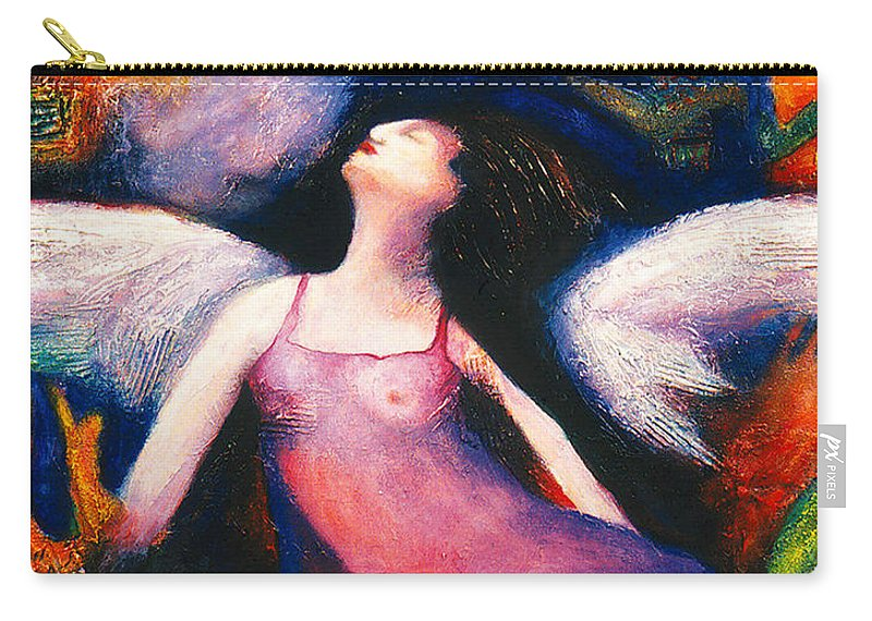 Saint Carry-all Pouch featuring the painting Saint Marcela by Claudia Fuenzalida Johns
