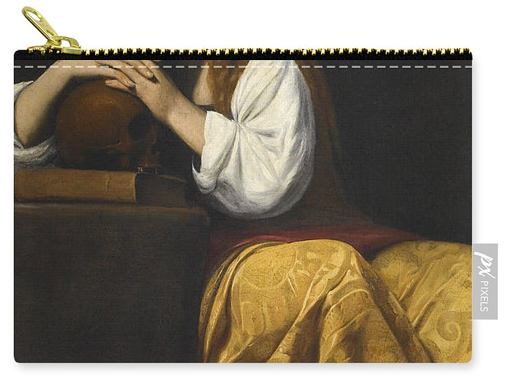 Saint Mary Magdalene Carry-all Pouch featuring the painting Saint Mary Magdalene by Giovanni Antonio Galli