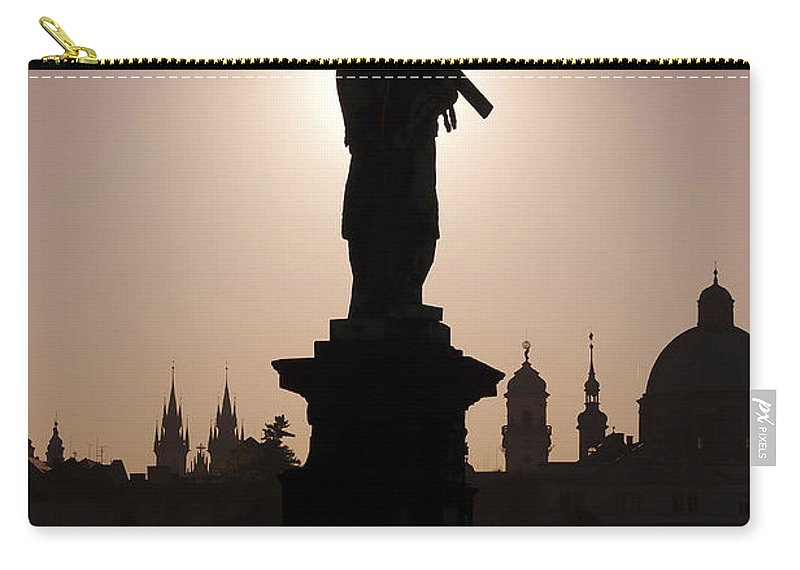 Prague Carry-all Pouch featuring the photograph Saint by Michal Boubin