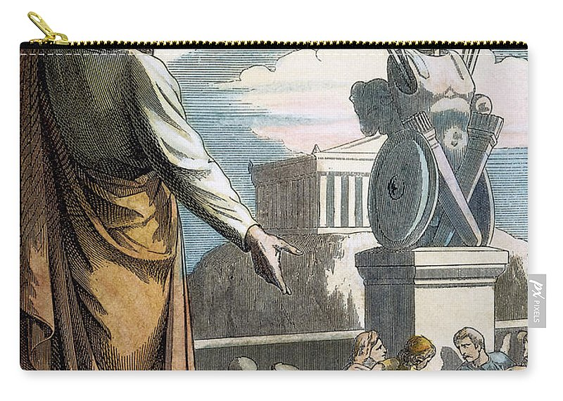 19th Century Carry-all Pouch featuring the photograph Saint Paul At Athens by Granger