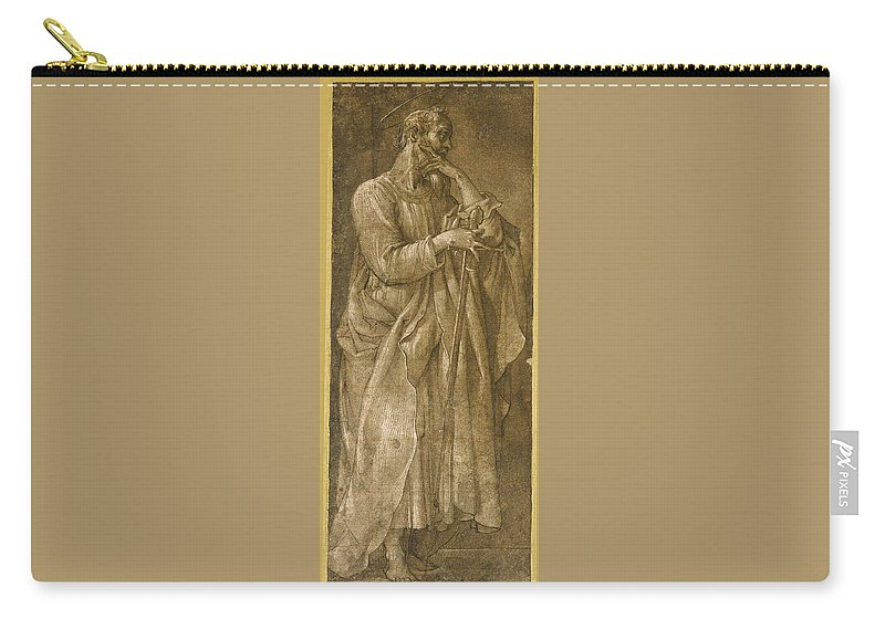 Giovanni Baglione Carry-all Pouch featuring the drawing Saint Paul by Giovanni Baglione