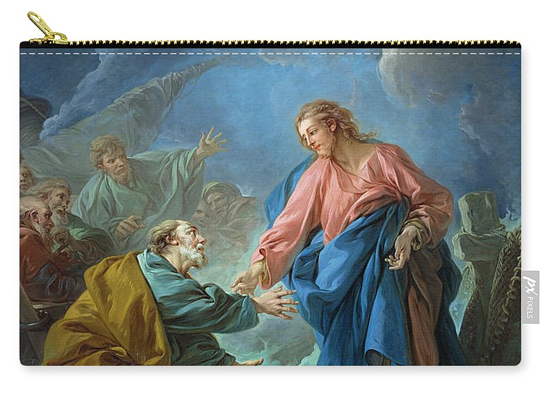 Peter Carry-all Pouch featuring the painting Saint Peter Invited To Walk On The Water by Francois Boucher