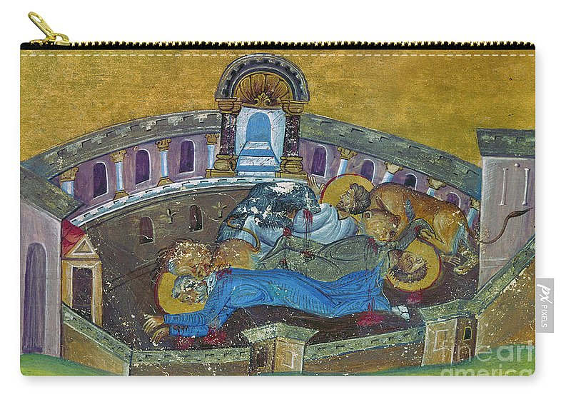 10th Century Carry-all Pouch featuring the painting Saint Silvanus Of Emesa by Granger