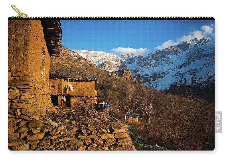 Sakran Village Carry-all Pouch featuring the photograph Sakran Village by Adam Mirani
