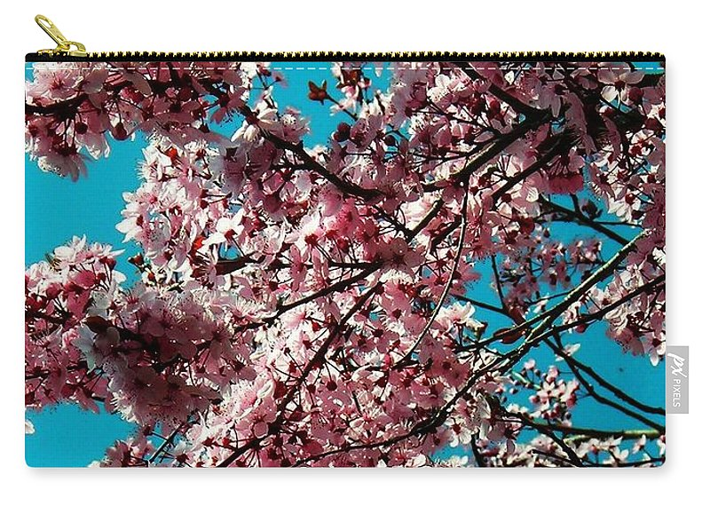 Fruehling Carry-all Pouch featuring the photograph Sakura by Juergen Weiss