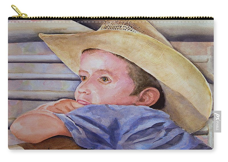 Sale Carry-all Pouch featuring the painting Sale Day by Sam Sidders