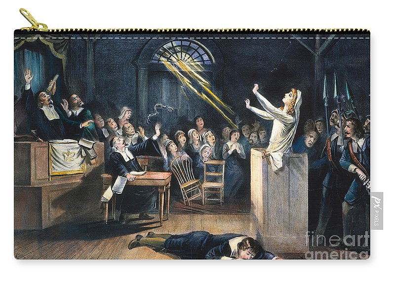 1692 Carry-all Pouch featuring the photograph Salem Witch Trial, 1692 by Granger