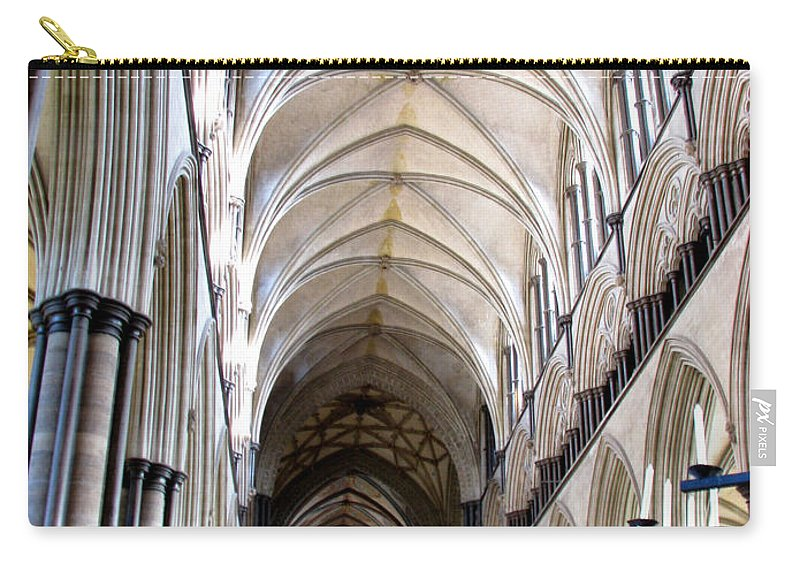 Salisbury Carry-all Pouch featuring the photograph Salisbury Cathedral by Amanda Barcon