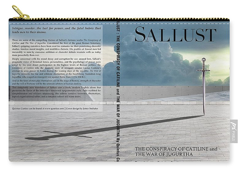 Quintus Curtius Carry-all Pouch featuring the digital art Sallust Cover by Quintus Curtius