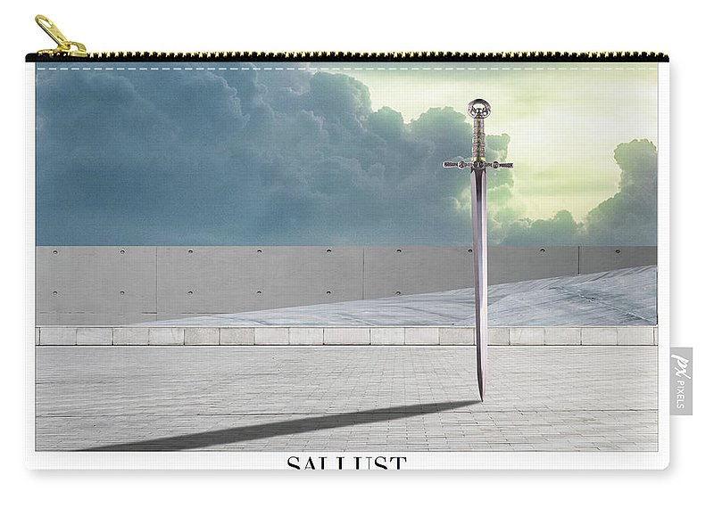 Sallust Carry-all Pouch featuring the digital art Sallust by Quintus Curtius