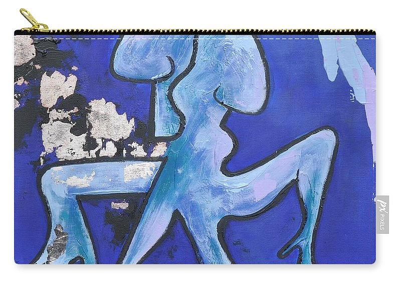Salsa Carry-all Pouch featuring the painting Salsa by Eduard Meinema