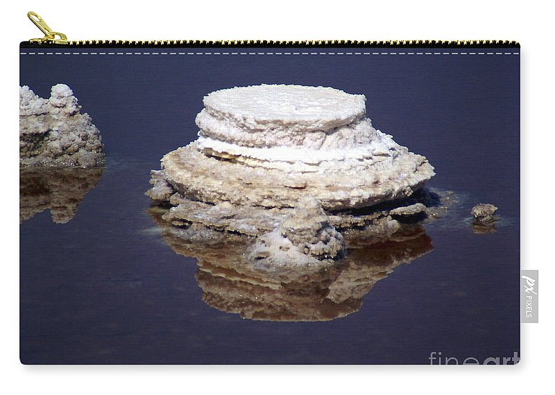 Salt; Formation Carry-all Pouch featuring the photograph salt cristal at the Dead Sea Israel by Avi Horovitz