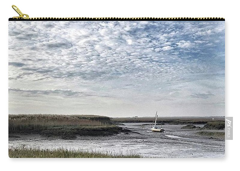 Beautiful Carry-all Pouch featuring the photograph Salt Marsh And Creek, Brancaster by John Edwards