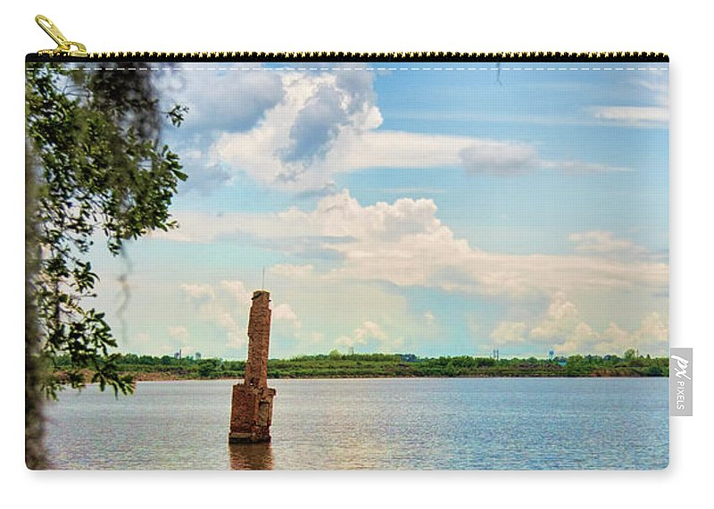 Landscape Carry-all Pouch featuring the photograph Salt Mine Disactor Monument Jefferson Island Louisiana by Chuck Kuhn