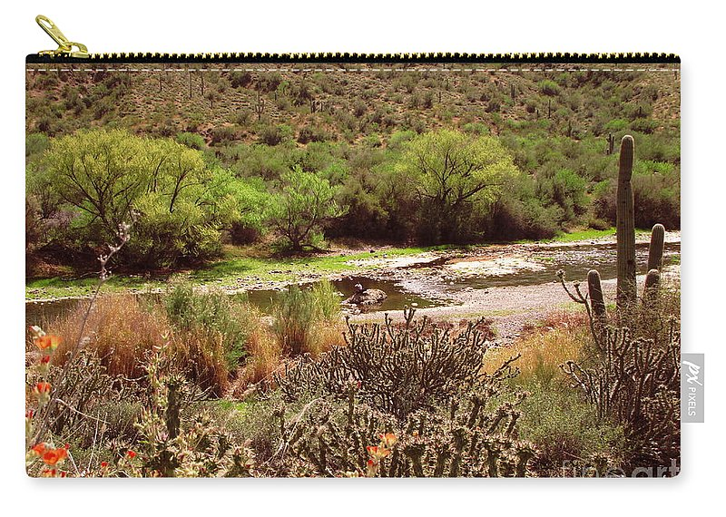 Arizona Carry-all Pouch featuring the photograph Salt River Serenity by Marilyn Smith